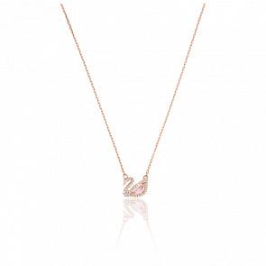 Collar Dazzling Swan Multicolor, Baño de Oro Rosa