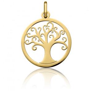 Colgante Árbol de la Vida Calado Oro Amarillo