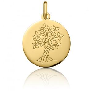 Colgante Árbol de la Vida Oro Amarillo