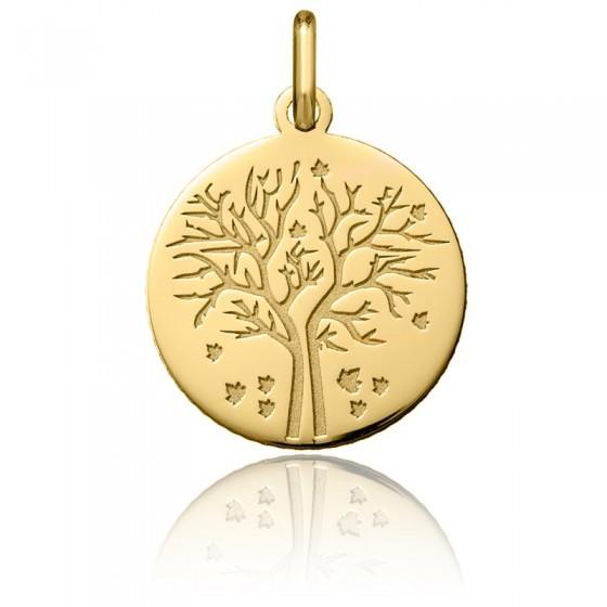 Colgante Árbol de la Vida Oro Amarillo 18K Otoño