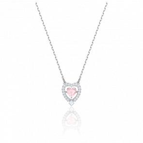 Collar Sparkling Dance Heart, Rosa, Baño de Rodio