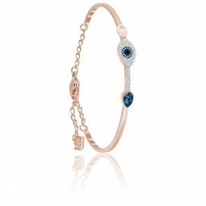 Brazalete Swarovski Symbolic Evil Eye Azul, Mezcla de Baños