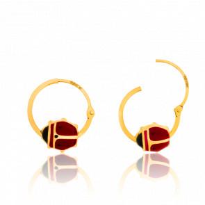 Pendientes de Aro de Oro Amarillo 18K Mariquitas