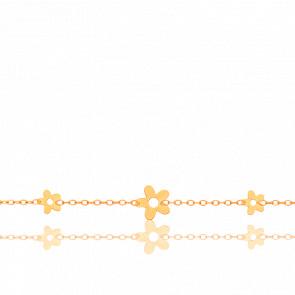Pulsera Floral Oro Amarillo