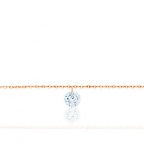Pulsera con diamante F/VS2 y Oro Rosa 18K