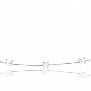 Collar Tres Mariposas Caladas Oro Blanco