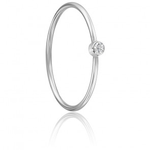 Anillo Lonely Star Oro Blanco