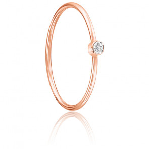 Anillo Lonely Star Oro Rosa