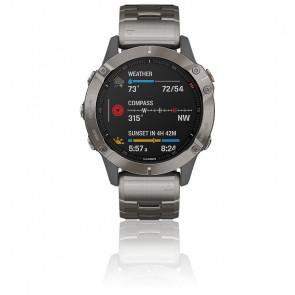 Reloj Fenix 6 Sapphire Titanio gris 010-02158-23