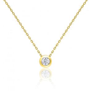 Collar Oro amarillo y Diamante 0,15ct