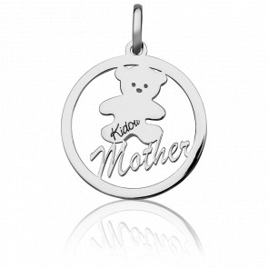 "Colgante Osito ""Mother"" Plata"