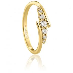 Anillo de compromiso Olvera de oro amarillo 18K y diamantes
