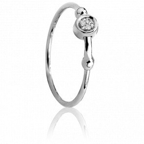 Anillo Swing plata&diamantes