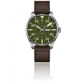 Reloj Khaki Aviation Pilot Schott NYC Edición límitada H64735561