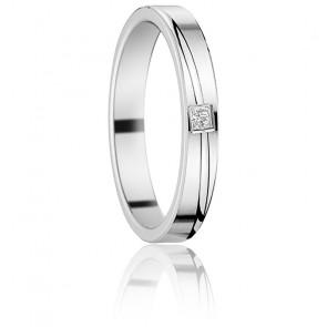 Alianza Oro Blanco con Diamante, Tana