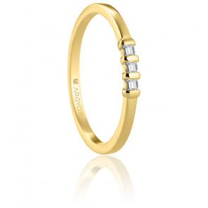 Alianza Langa de oro amarillo de 18K y diamantes
