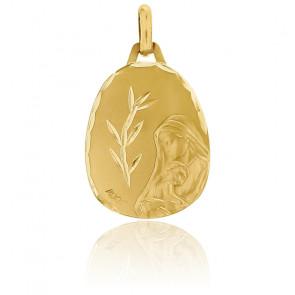 Medalla Virgen con niño Jesús Oro amarillo