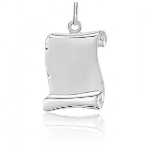 Colgante Pergamino Oro Blanco 18 quilates