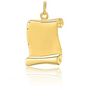 Colgante Pergamino Oro Amarillo 18 quilates