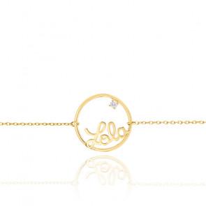 Pulsera Modelo pequeño Círculo Zoé Oro Amarillo