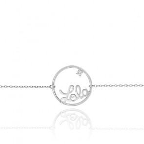 Pulsera Modelo pequeño Círculo Zoe Oro Blanco