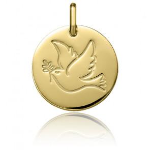 Medalla Paloma de Oro Amarillo de 18K