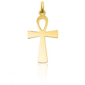 Cruz estriada Oro Amarillo 18K, 17mm x 32mm