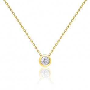 Collar Oro Amarillo Diamante Solitario 0,30 ct