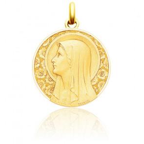 Medalla redonda Virgen de las Rosas