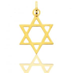 Colgante Oro Amarillo, Estrella de David