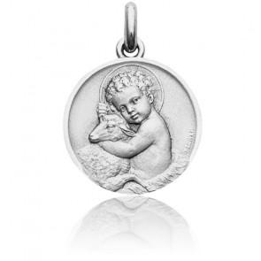 Medalla Niño Jesús Oro Blanco