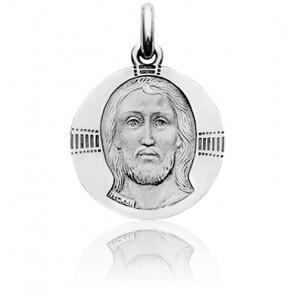 Medalla Cristo Bizantino Oro Blanco