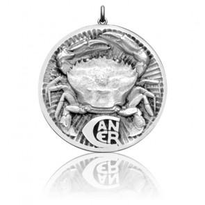 Medalla horóscopo Sígno Cáncer, Plata