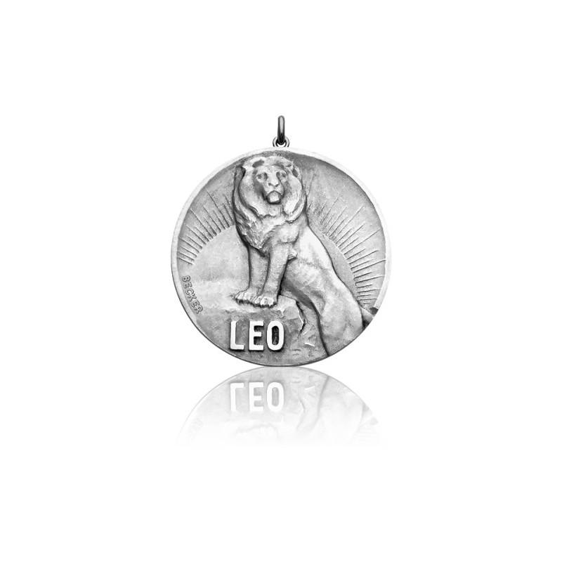 Medalla horóscopo Sígno Leo Plata– Becker