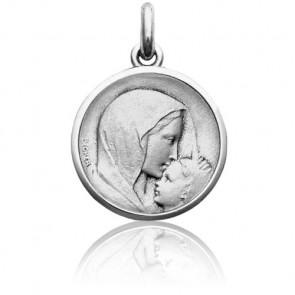 Medalla de Plata Virgen con Niño Jesús