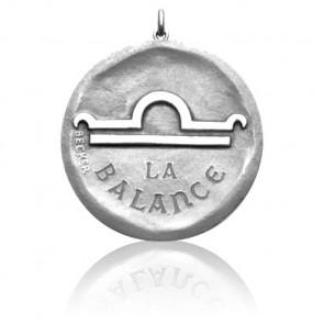 Medalla signo horóscopo Libra Plata