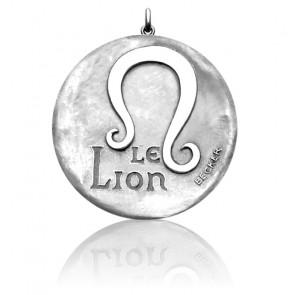 Medalla signo horóscopo Leo Oro blanco