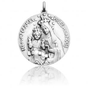 Medalla escapulario Virgen y Cristo