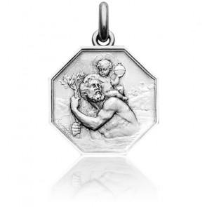 Medalla San Cristóbal Plata Becker