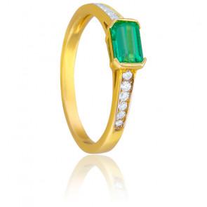 Anillo Eléonore Oro Amarillo & Diamantes Esmeralda