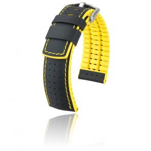 Correa Robby negra - amarillo / plata 091 72 94 0 50