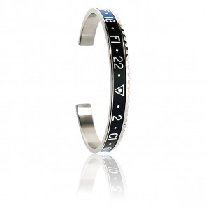 Pulsera STEEL Blue & Black