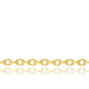 Cadena Forzada Redonda 45 cm Oro Amarillo