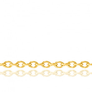 Cadena Oro Amarillo Forzada Redonda 50 cm