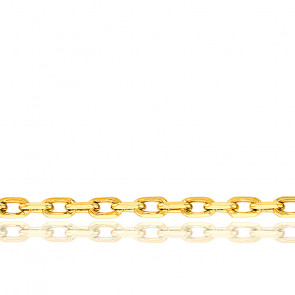 Cadena Forzada de 45 cm Oro Amarillo de 18K