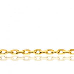 Cadena Oro Amarillo Forzada Brillante 60 cm