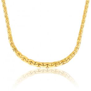Collar Cascada Cadena Rolo Cerrado 42cm Oro Amarillo 18k
