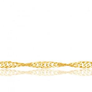Cadena cuerda Singapour 40cm Oro Amarillo