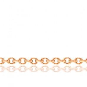 Cadena Forzada Redonda 50 cm Oro Rosa