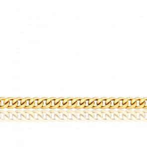 Cadena Barbada de 55cm Oro Amarillo de 9k
